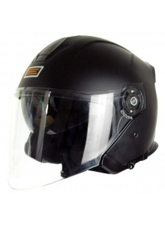 Helmet Demi-Jet Origine Palio Black Matt with sun glass for city use