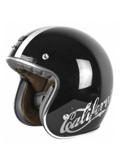 Casco Jet Origine Primo Cali Sparkle Negro Brillo