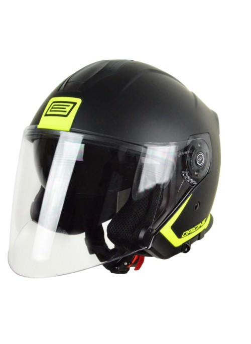Demi-Jet helmet Origine Palio Fluor Yellow with sun glass for city use