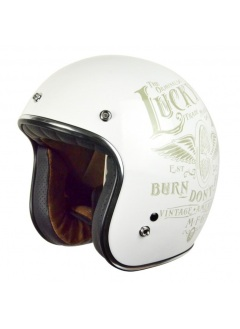 Casco Jet Origine Primo Flying Wheel Blanco
