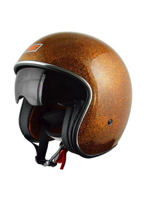 Jet Helmet Origine Sprint Orange Glitter