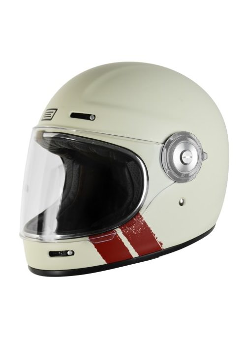Origine Vega Stripe White Retro Full Face helmet