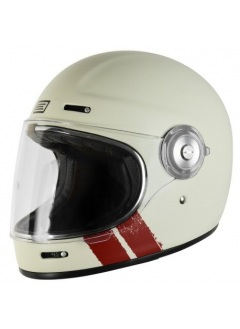Casque full face retro Origine Vega Stripe White