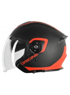 Motorrad helm Demi-Jet Origine Palio Fluor orange Solargläser