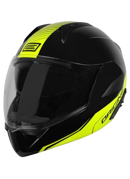 Flip Up Helmet Riviera Line Yellow Black