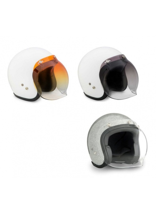 Bubble visor for jet helmet