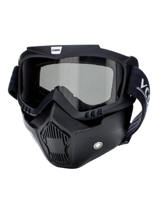 Mascara negra con gafa incluida