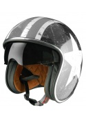 Jet helmet Origine Sprint Rebel Star Grey with sun glasses Cafe Racer Vintage