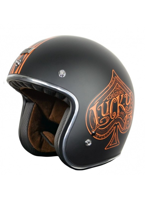 Casco Jet Origine Primo Red Spade Orange As de picas