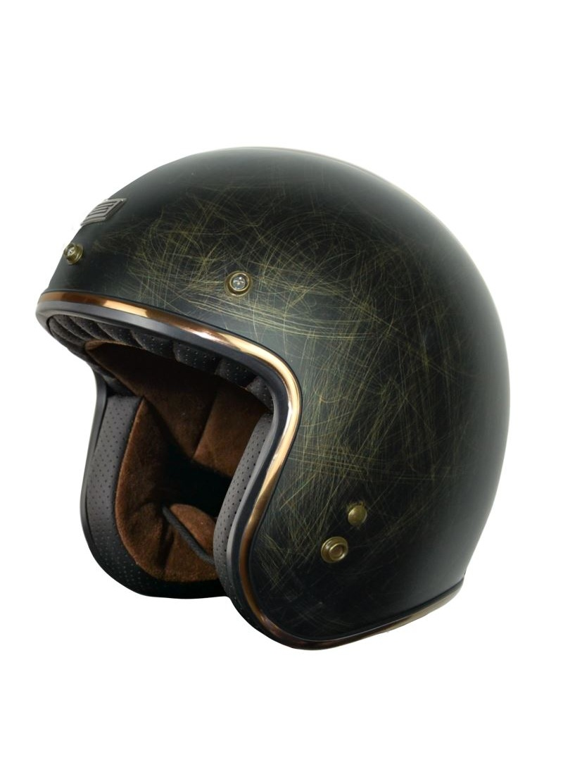 Jet helmet Origine Primo Scacco Bronze Old Metal Effect