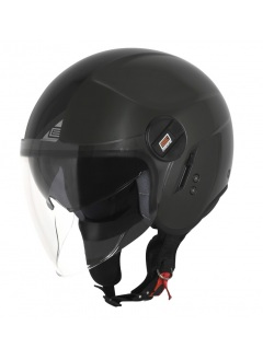 Casco de moto Jet urbano con gafa de sol Origine Alpha Negro Mate