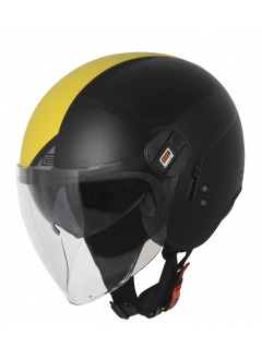 Motorcycle jet helmet Origine Alpha Fluo / Black matt