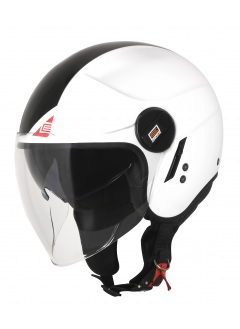 Motorcycle jet helmet Origine Alpha Next White/Black