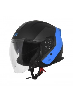 Helmet Demi-Jet Origine Palio Eko Matt Blue with sun glass for city use