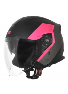 Helmet Demi-Jet Origine Palio Eko Fucsia with sun glass for city use