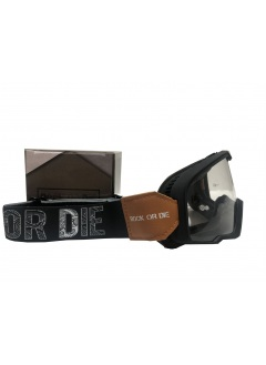 Rock Or Die black vintage motorcycle goggles